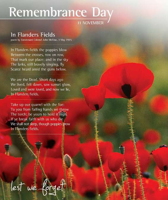 Remembrance day poems 2017[1]